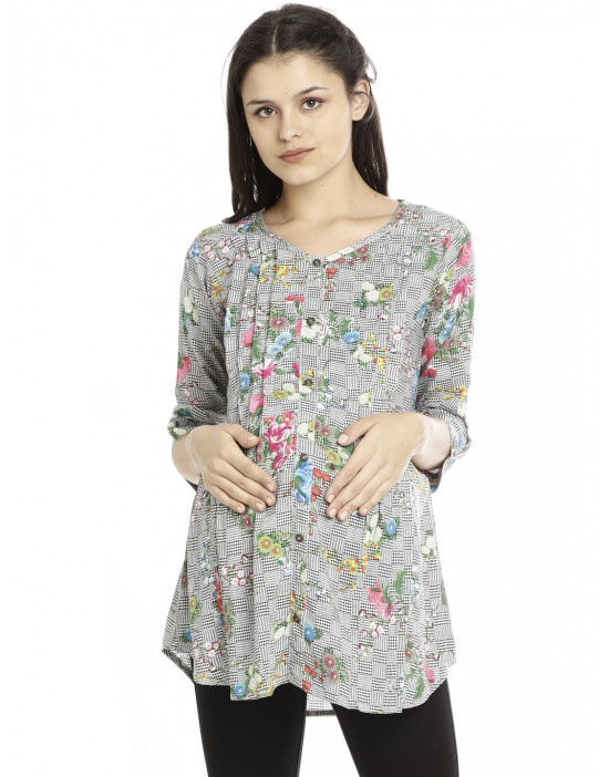 Minelli Maternity/Feeding Cotton Tunic For Women