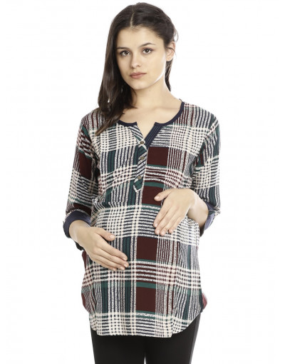 Minelli Maternity/Nursing Fabric Gown for Women