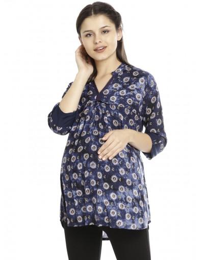 Minelli Maternity/ Nursing FabricTunic for Women
