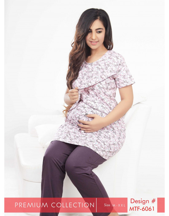 Women's Long Nursing/Feeding/Maternity Night Suit
