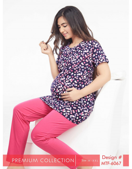 Women's Long Nursing/Feeding/Maternity Night Suit
