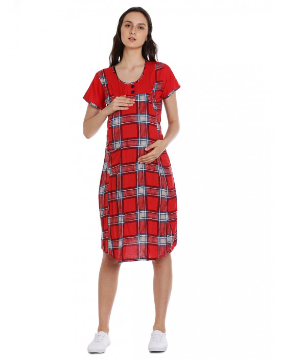 Minelli Women's Long Maternity/Nursing Gown