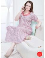 Minelli Sweetheart-Neck Short Sleeve Cotton Nighties