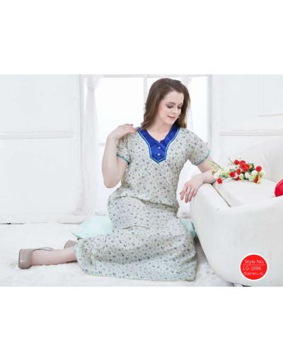 Minelli Women's Embroidered Neckline Fabric Nighties