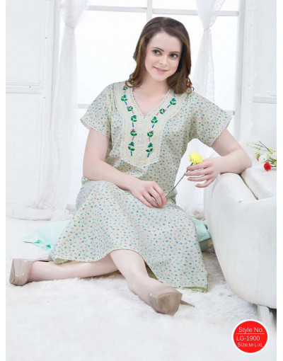 Minelli V-Neck Short Sleeve Cotton Nighties