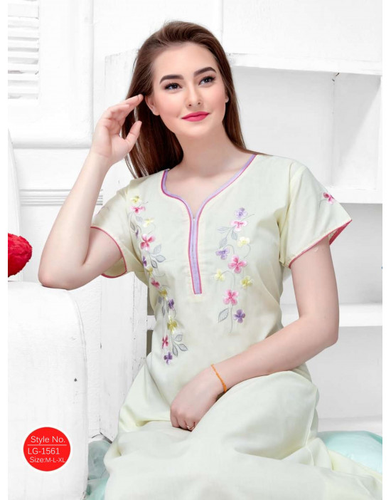 Minelli Sweetheart-Neck Short Sleeve Cotton Nighties