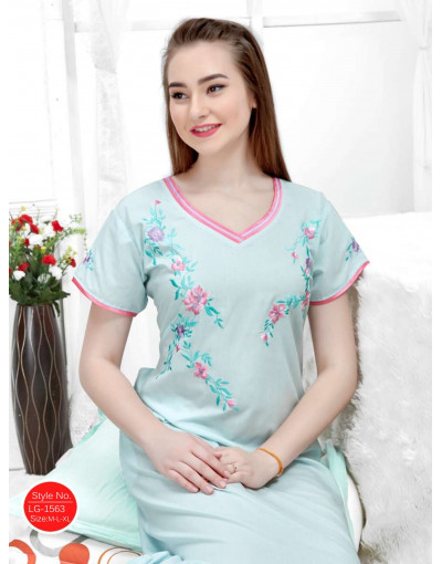 Minelli V-Neck Short Sleeve Cotton Nighties