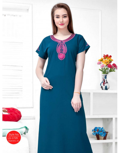 Minelli Round-Neck Short Sleeve Cotton Nighties