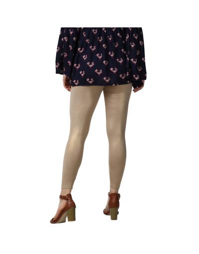 Womens Four Way Strech Ankle Length Shimmer Legging