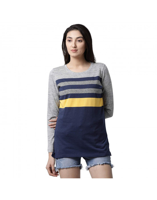 Womens Round Neck Long Sleeve Yoga/Sports/Casual Tee