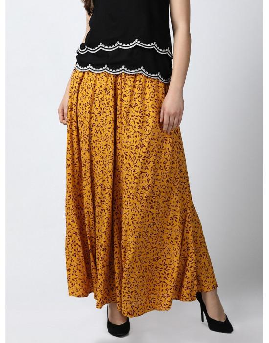 Minelli Womens Printed Skirt Palazzo