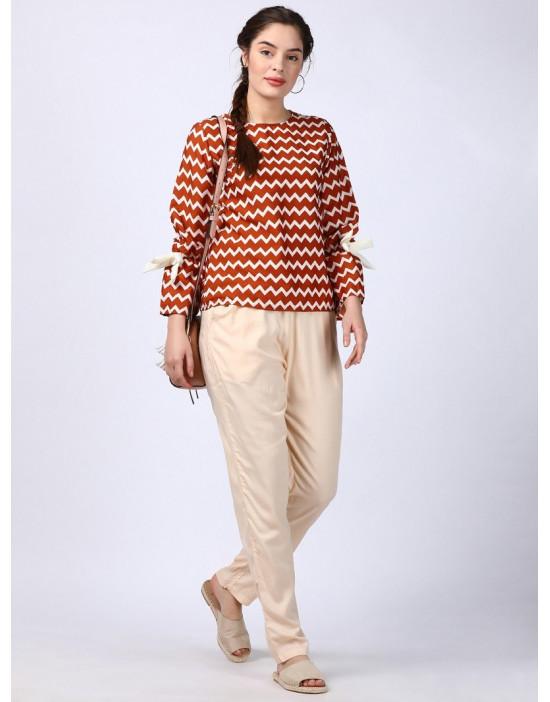 Minelli Womens Rayon Fabric Pencil Pant