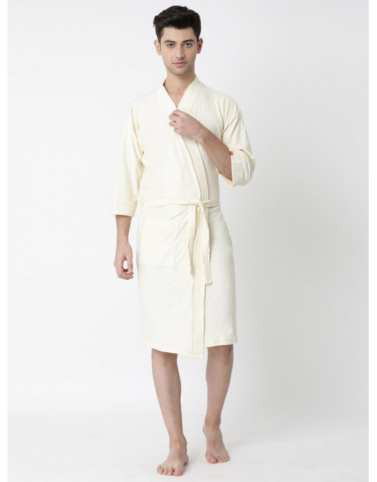Men's Turkish Cotton Fabric Plain Bathrobe
