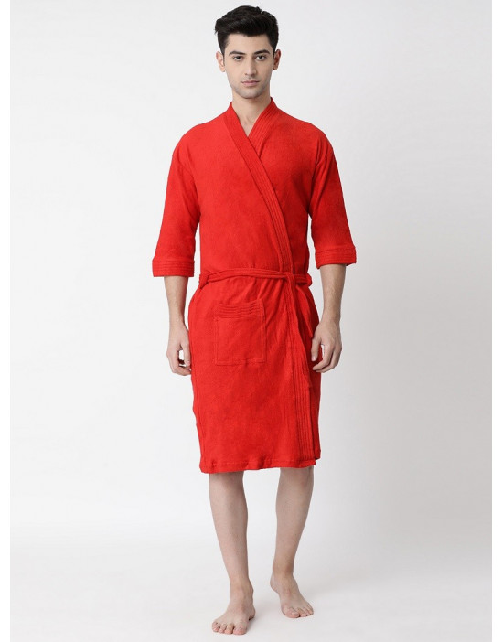Men's Luxury & Stylish Cotton Plain Bathrobe