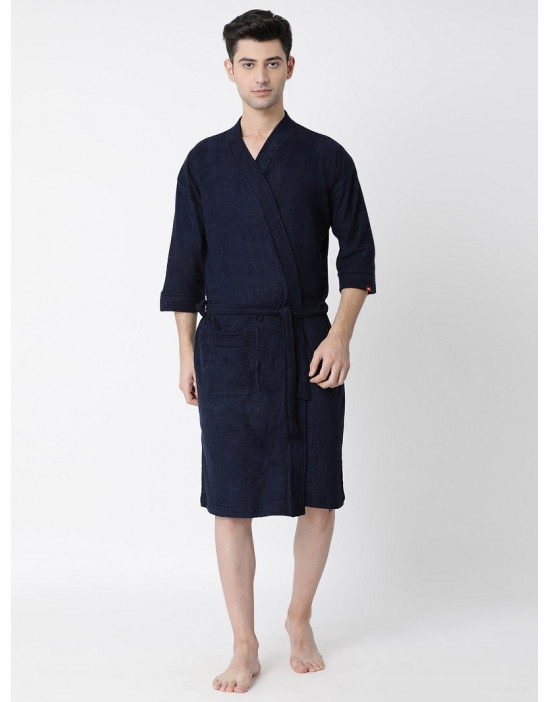 Men's Luxury Turkish Plain Bathrobe Loop Belt With Pocket