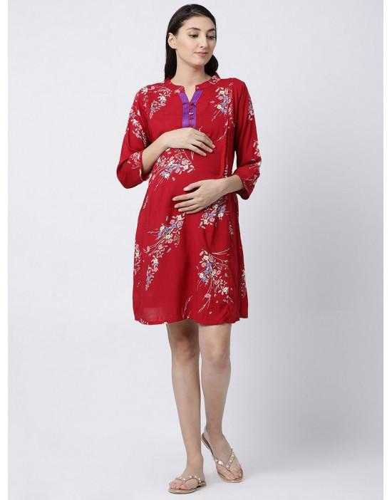 Womens Rayon Fabric Maternity/Nursing/Feeding Kurti
