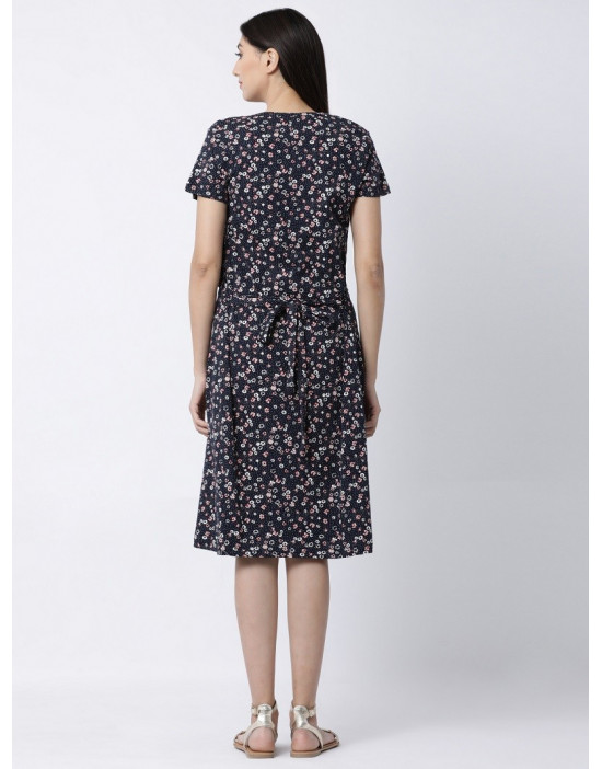 Minelli Women Short Sleeve Sinker Fabric Maternity/Nursing/Feeding Gown
