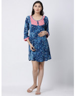Woman Rayon Fabric Maternity/Nursing/Feeding Kurti