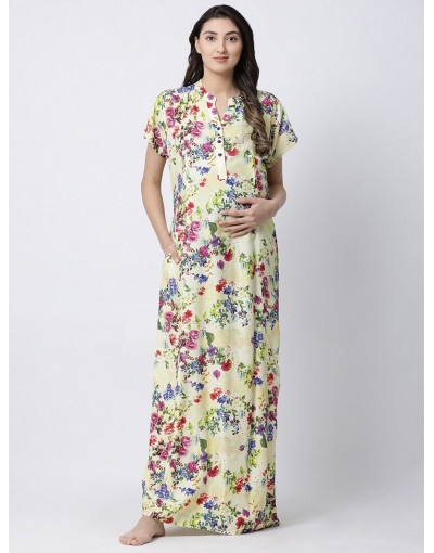 Minelli Pre & Post Rayon Fabric  Maternity Long Wear