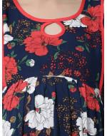 Woman Rayon Fabric Maternity/Nursing/Feeding Long Gown