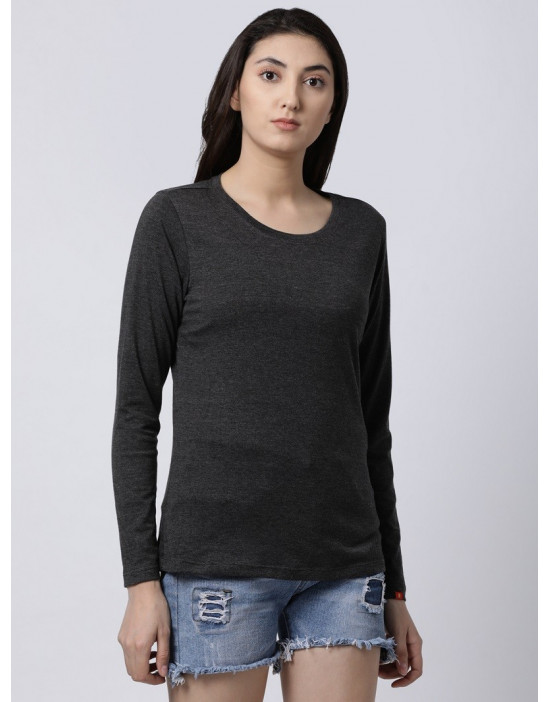 Womens Round Neck Full Sleeve Yoga/Sports/Casual Tee