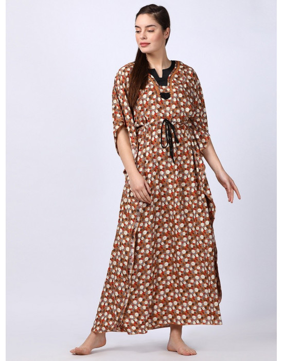 Minelli Women Printed Kaftan Dress