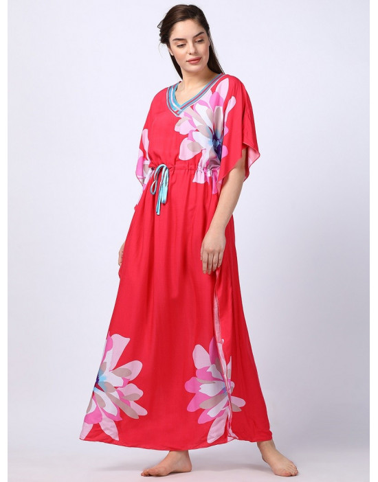 Minelli Women Printed Kaftan Peach Dress