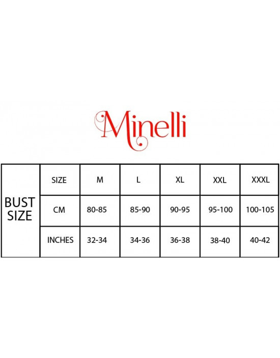 Minelli Women's Round Neck Rayon Fabric Maternity/Nursing/Feeding Gown