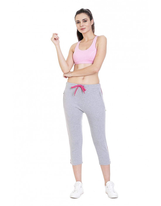 Women Plain Cotton Yoga/Sports/Lounge Capri