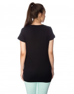 Long tee, V-neck tee, hip length tee, night wear tee