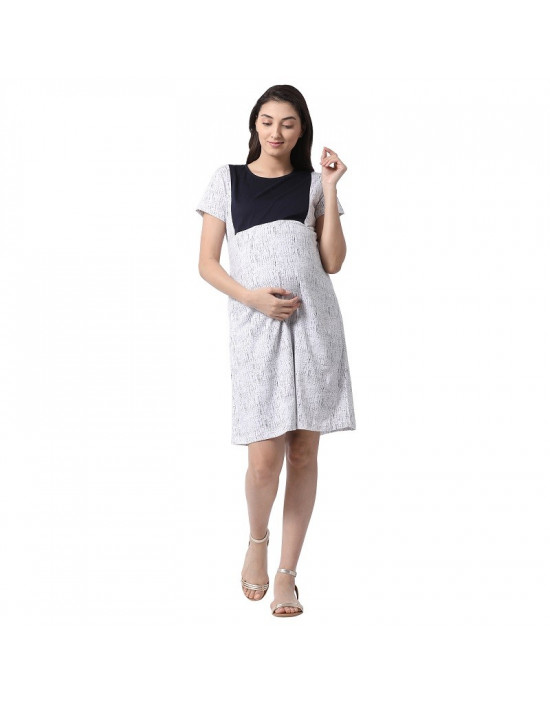 Minelli Women Hosiery Fabric Maternity/Nursing/Feeding Gown