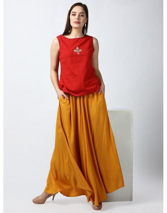 Minelli Womens Plain Skirt Palazzo