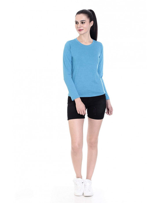 Women's Round Neck Full Sleeve Casual / Yoga Top