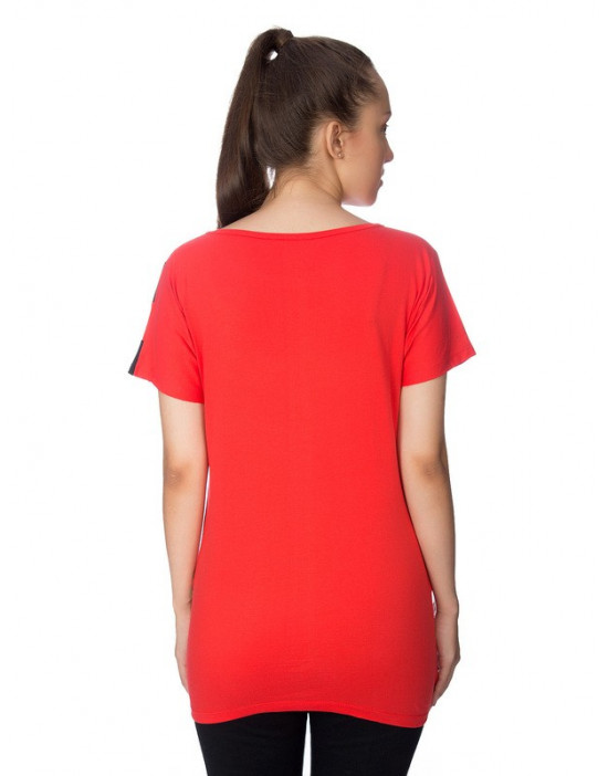 Round Neck long Tees with pocket