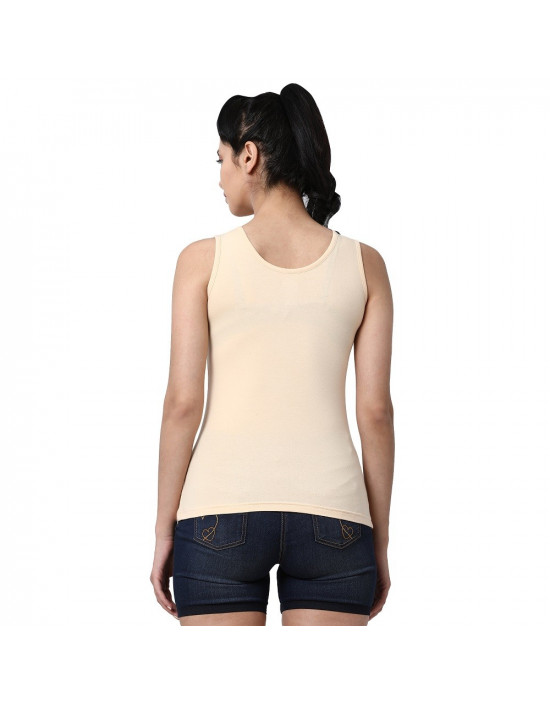Womens Soft Cotton Fabric U Back Tank Top