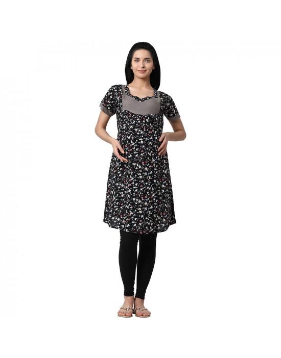 Minelli Wome's Rayon Fabric Maternity/Feeding/Nursing Kurti