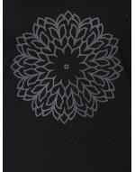 Women's Yoga/Sports/Casual Round Neck Super Long Tee Black
