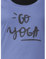 Women's Yoga/Sports/Casual Round Neck Super Long Tee Blue
