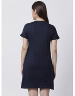 omen's Yoga/Sports/Casual Round Neck Super Long Tee Navy Blue