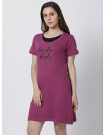Women's Yoga/Sports/Casual Round Neck Super Long Tee Purple