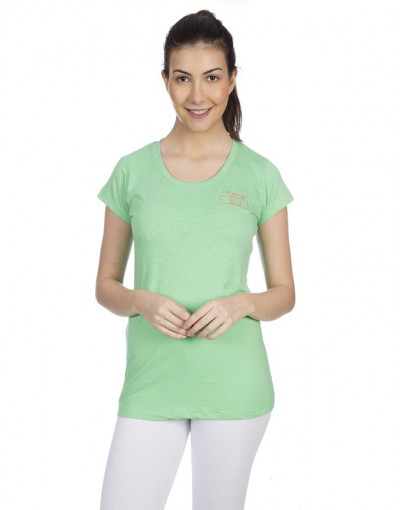Women's Round Neck Slub T-Shirts