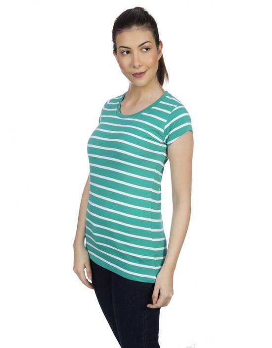 Round neck simple stripes