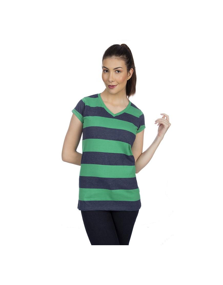 V-neck Big stripes