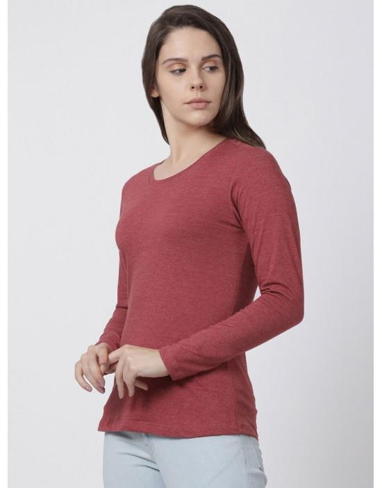 Womens Round Neck Full Sleeve Yoga/Sports/Casual Tee