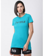 Women Round Neck Sports Yoga Casual Long Printed Top