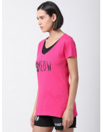 Women V Neck Sports Yoga Casual Long Printed Top