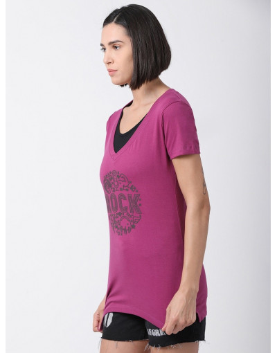 Women V Neck Sports Yoga Casual Long Printed Top
