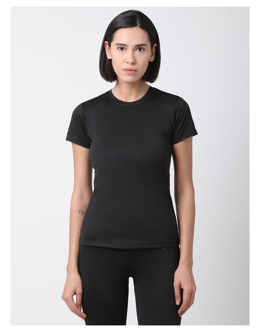 Women Sports Short Sleeve Solid Dri Fit Top