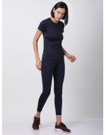 Women Sports Short Sleeve Solid Dri Fit Top