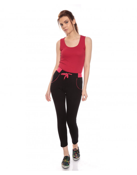 Women's track pant with norrow bottom trendy pocket